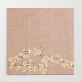 Pink Blossom Wood Wall Art