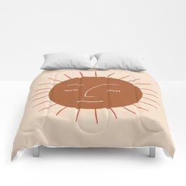 Minimalist Sun Face Comforters