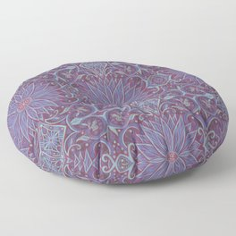 """Lavender lotus"" floral arabesque pattern Floor Pillow"