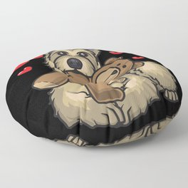 Berger Picard Dog with hearts Floor Pillow
