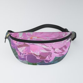 Single Pink Peony in a Ball Canning Jar Fanny Pack