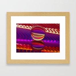 Brilliance in the crystal ball Framed Art Print