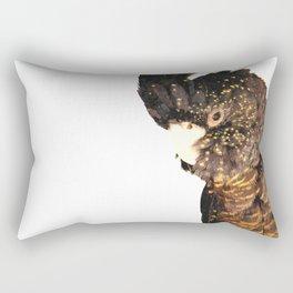 Black cockatoo illustration Rectangular Pillow