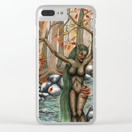 Tree Nymph Clear iPhone Case