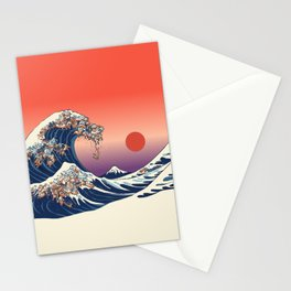 The Great Wave of Dachshunds Stationery Cards