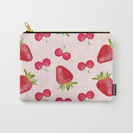 Strawberries Cherries Fiesta Pattern Carry-All Pouch