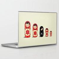 sheep Laptop & iPad Skins featuring The Black Sheep by Fabian Gonzalez