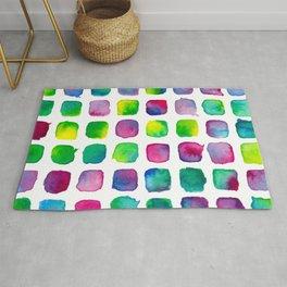 Watercolor Squares Rug