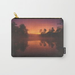 Autumn Morning Mist over Pond Carry-All Pouch
