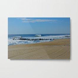 beach break wave NJ Metal Print