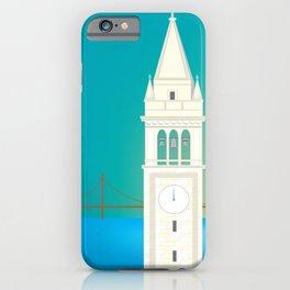 Berkeley, California - Skyline Illustration by Loose Petals iPhone Case