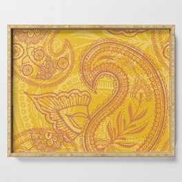 Paisley Juice Serving Tray