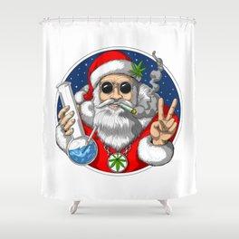 Santa Smoking Weed Shower Curtain