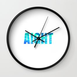 aight Wall Clock