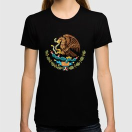 Mexican seal on Adobe red T-shirt