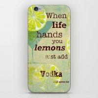 vodka iPhone & iPod Skins featuring Add Vodka by Joe Sander