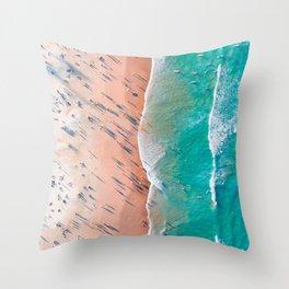 Half Sand Half Sea Throw Pillow