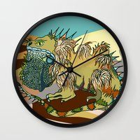dune Wall Clocks featuring Dune by Maria Paula Quiva