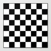 chess Canvas Prints featuring Chess by ArtSchool