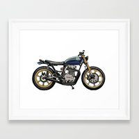 motorcycle Framed Art Prints featuring Motorcycle by Thomas M Card