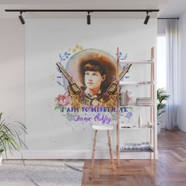 I aim to misbehave Wall Mural