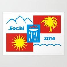 Sochi 2014 flag - Authentic version Art Print