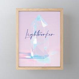Lightworker Wall Art   Pastel Crystal Decor Framed Mini Art Print