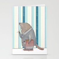beaver Stationery Cards featuring Dr Beaver by Yiting Lee