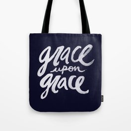 Grace upon Grace x Navy Tote Bag