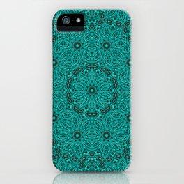 Beautiful mandala in teal and green iPhone Case
