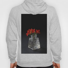 Red Succulent Blossoms Hoody