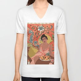 LEMON LADY Unisex V-Neck