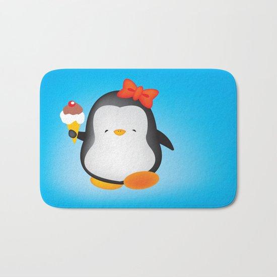 ice cream penguin Bath Mat