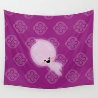 scary Wall Tapestries featuring Happy scary by Zona C' by Ceci Pantin