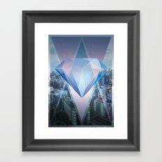 tokyo's Diamond Framed Art Print