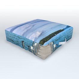 Stepping to the Sea Outdoor Floor Cushion