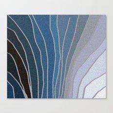 Flowing Blue Shapes Canvas Print