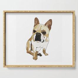 Frenchie Dog (tan/white) Serving Tray
