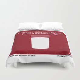 No138 My Inglourious Basterds minimal movie poster Duvet Cover