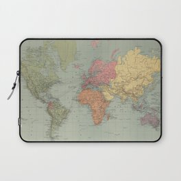 Vintage Map of The World (1889) Laptop Sleeve