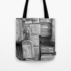 Black and White Vintage Tote Bag