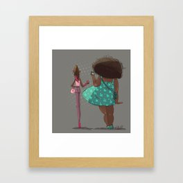 Girls! Framed Art Print