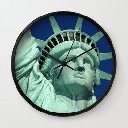 Statue Of Liberty Close Wall Clock