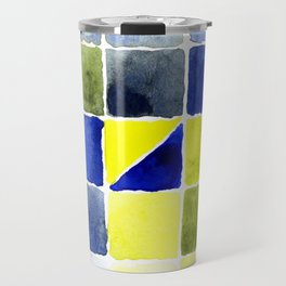 Color Chart - Lemon Yellow (DS) and Cobalt Blue (DS) Travel Mug