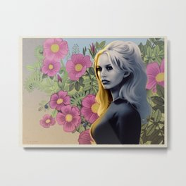 FRENCH FLOWERS FEAT. BRIGITTE BARDOT Metal Print