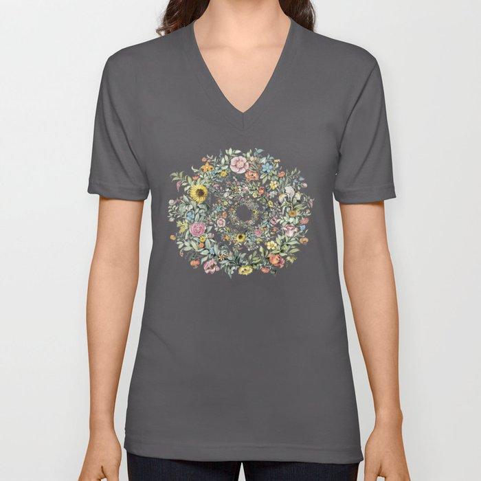 Circle of life- floral Unisex V-Ausschnitt