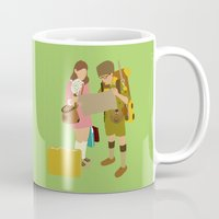 moonrise kingdom Mugs featuring moonrise kingdom by Live It Up