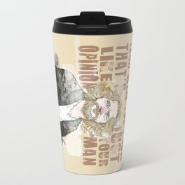 The Dude, The Big Lebowski quote  Travel Mug