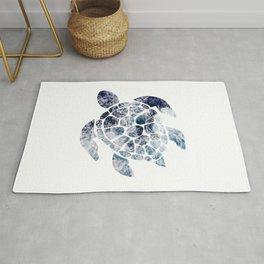Sea Turtle - Blue Ocean Waves Rug