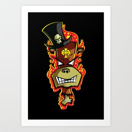 Trick Monkey - Voodoo Witch Doctor Art Print